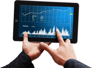 tablet con grafici